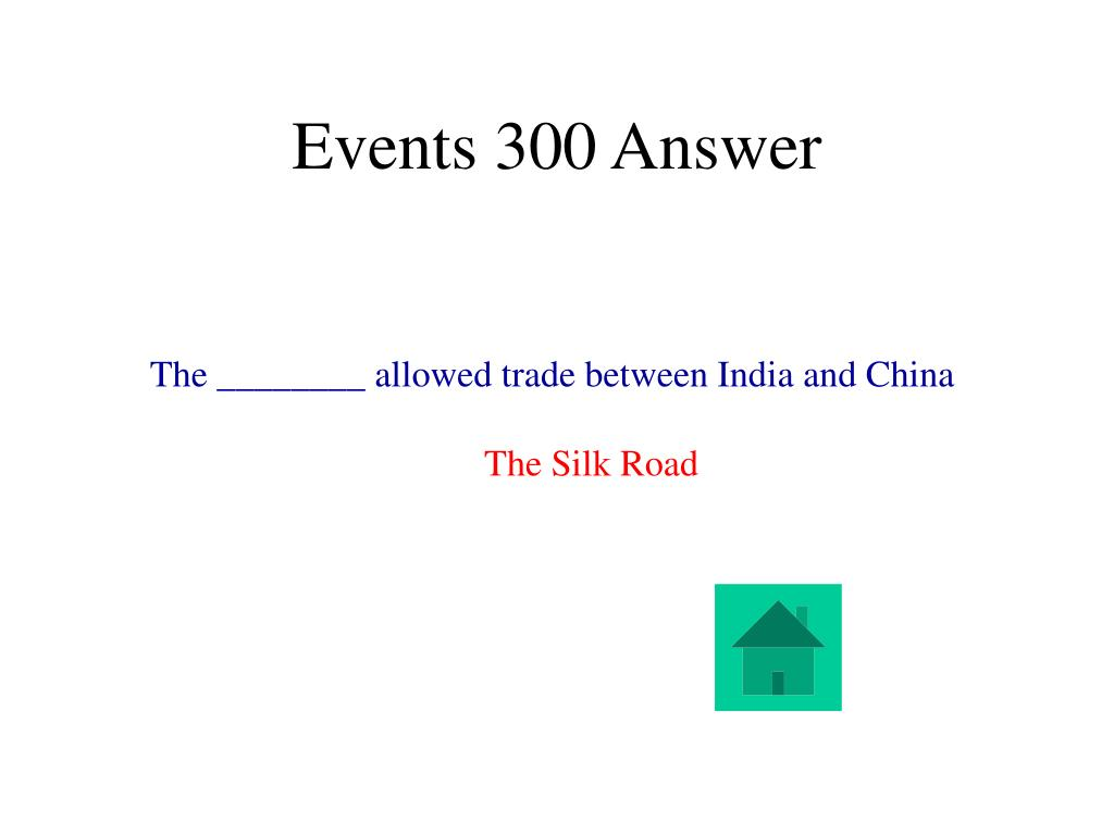 Events 300 Answer