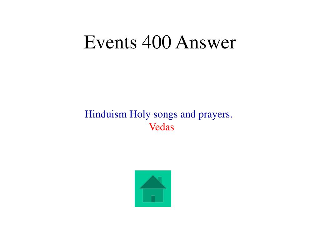Events 400 Answer