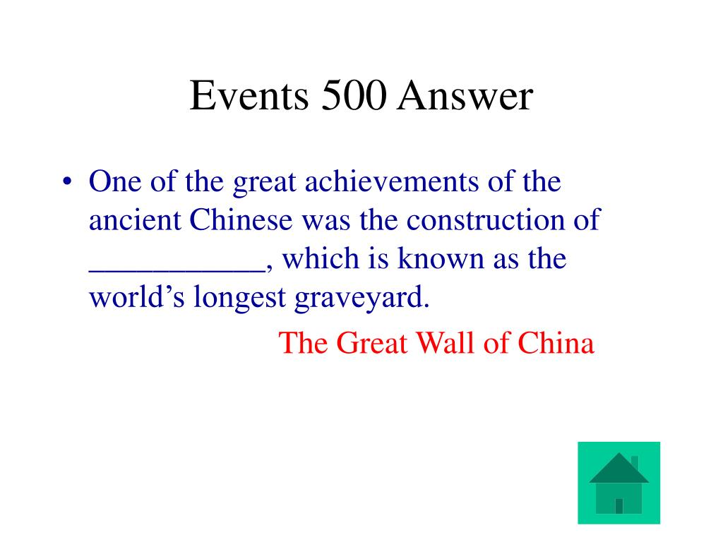 Events 500 Answer