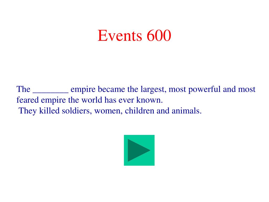 Events 600