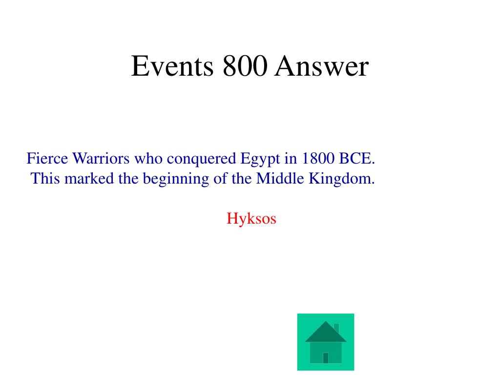 Events 800 Answer