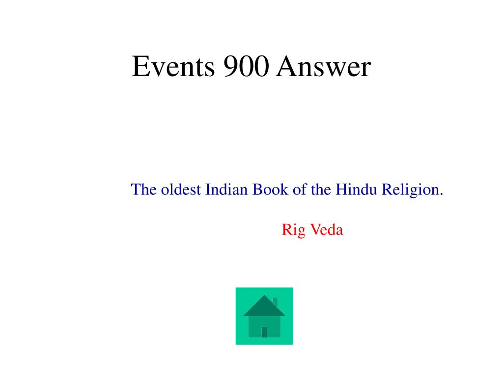 Events 900 Answer