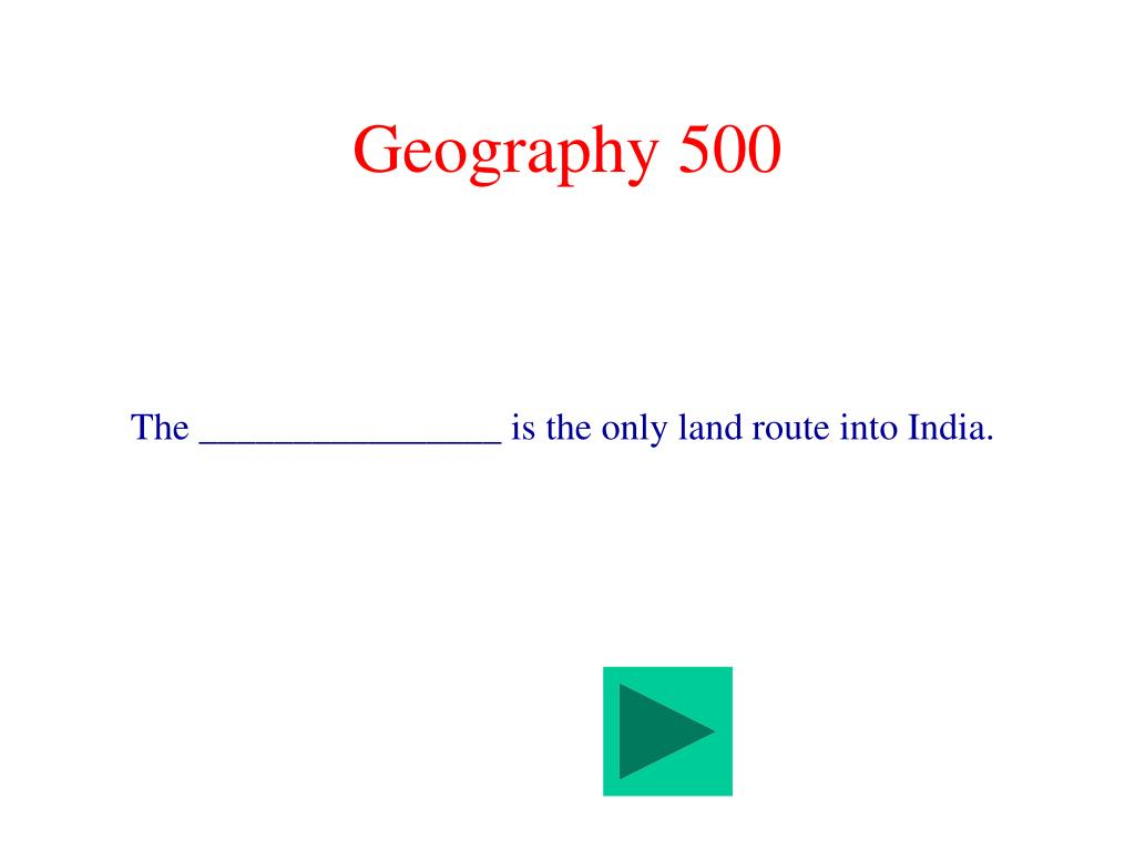 Geography 500