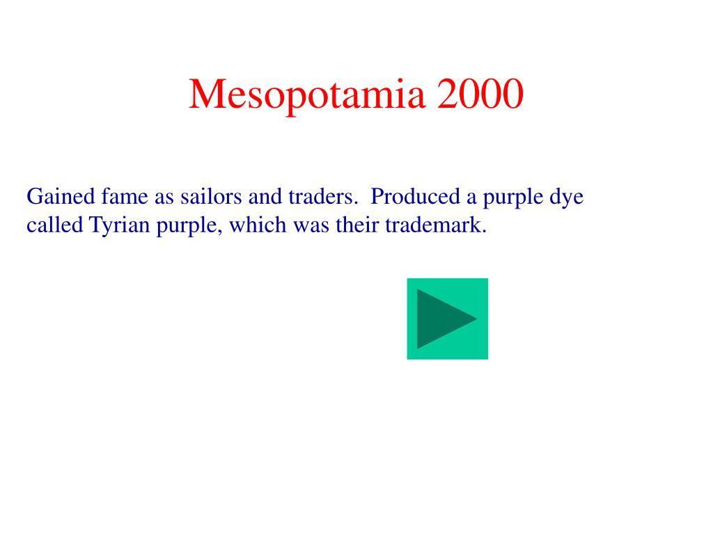 Mesopotamia 2000