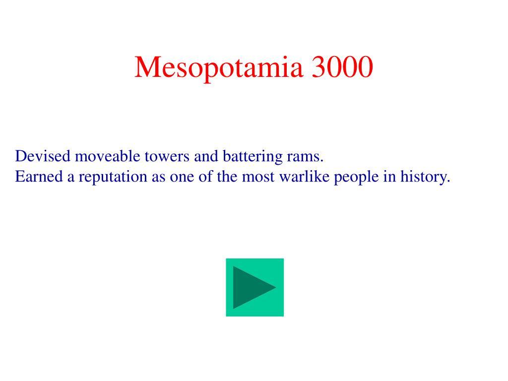 Mesopotamia 3000