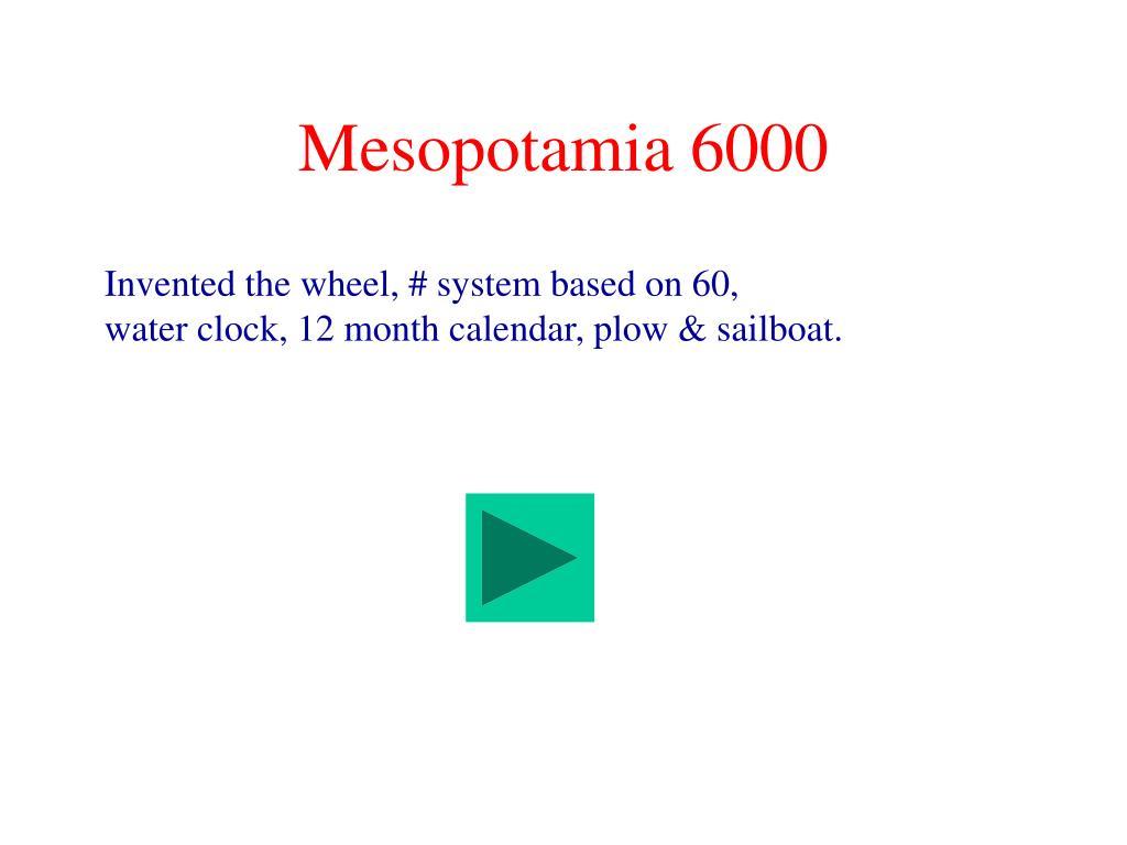 Mesopotamia 6000