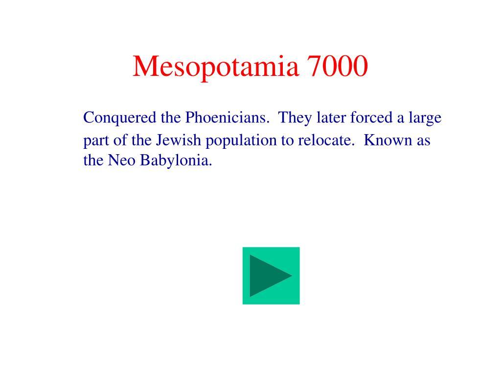 Mesopotamia 7000
