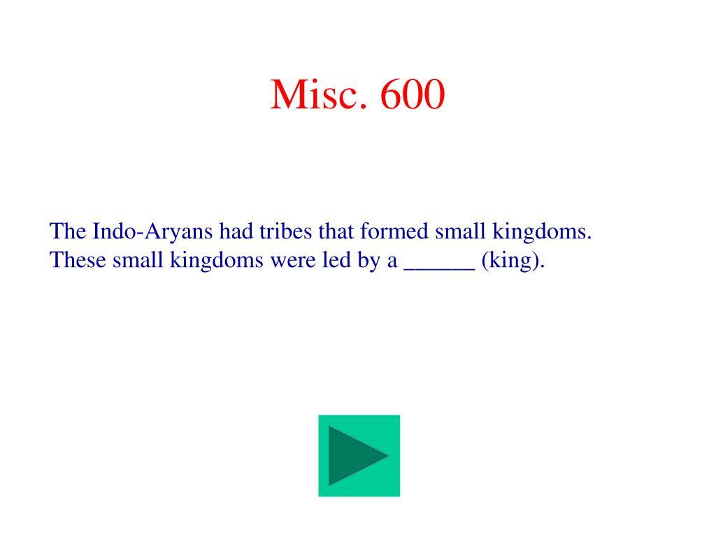 Misc. 600