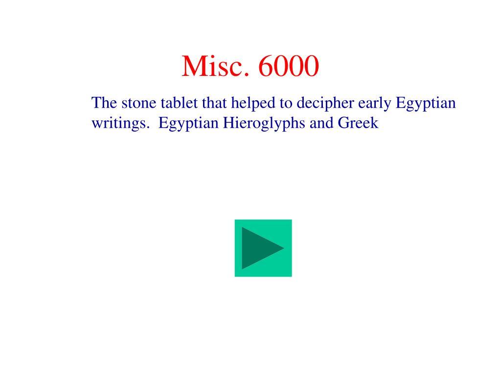 Misc. 6000