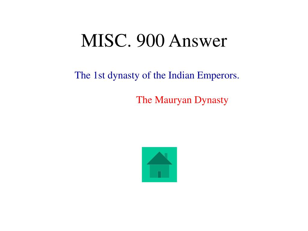MISC. 900 Answer