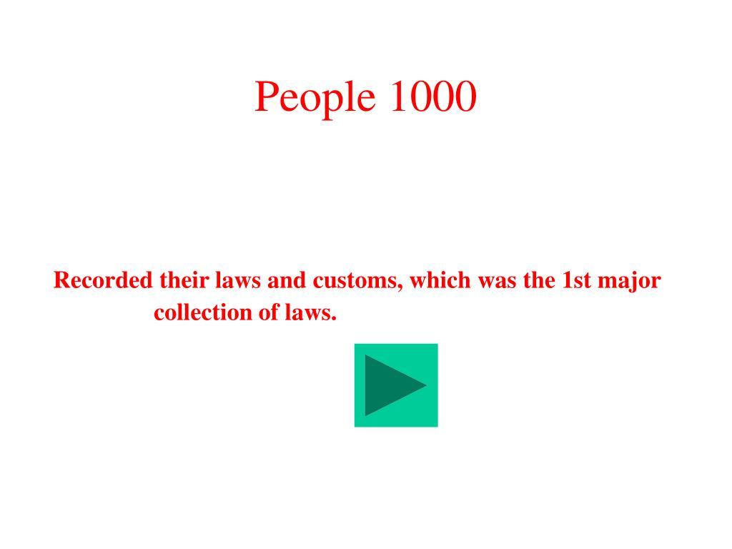 People 1000