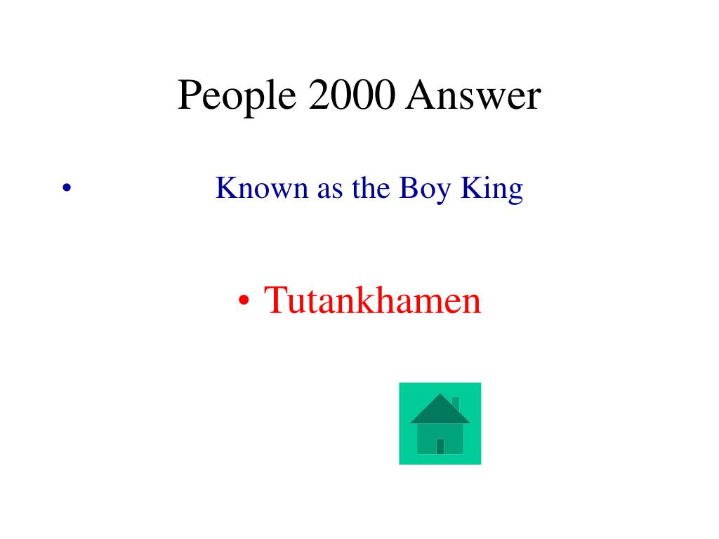 People 2000 Answer