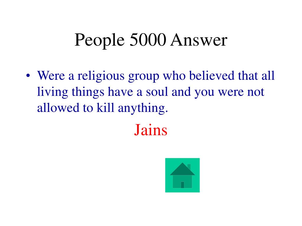 People 5000 Answer