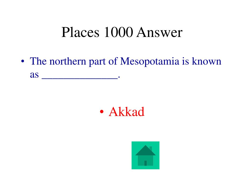 Places 1000 Answer