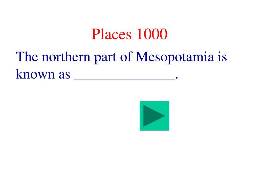 Places 1000