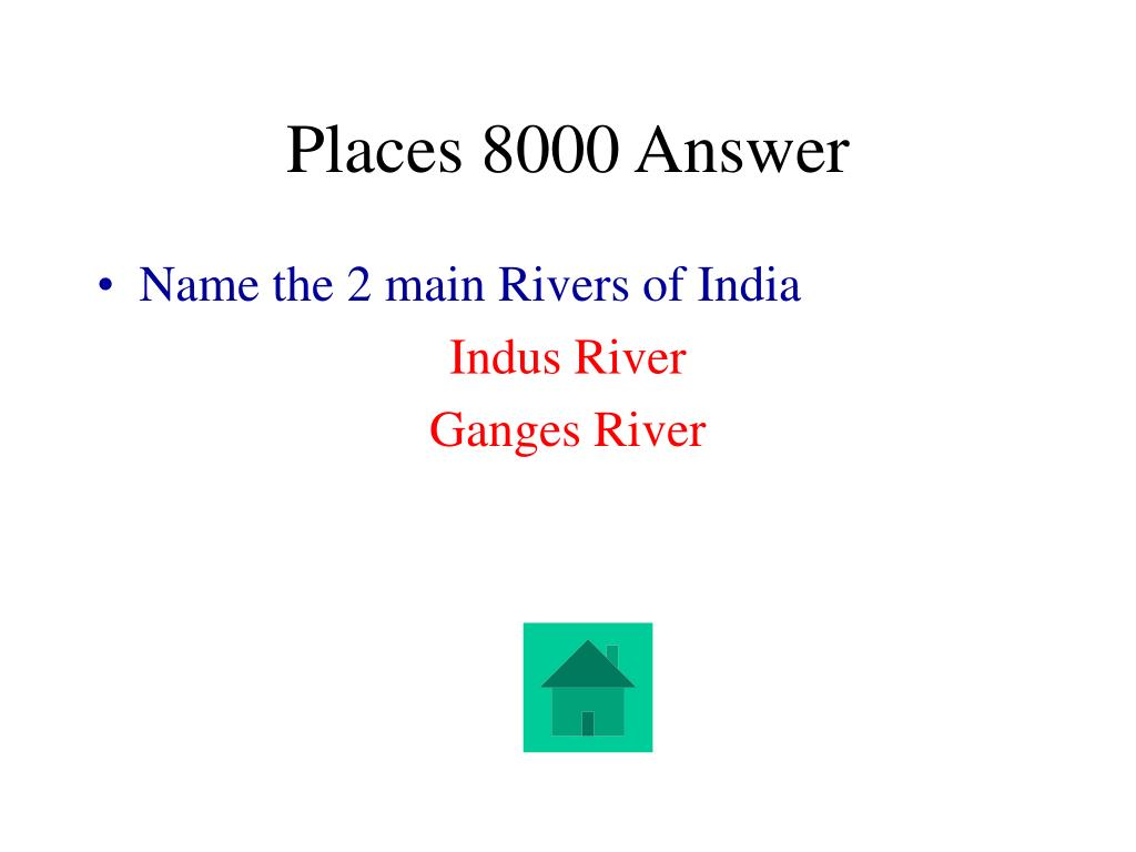 Places 8000 Answer