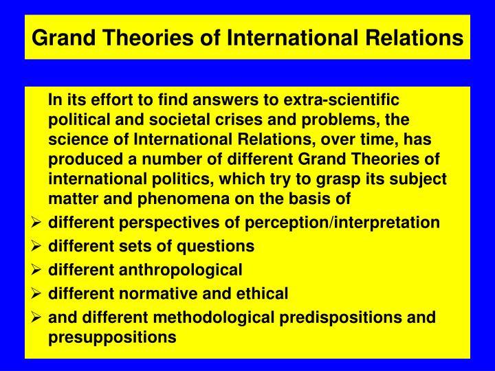 idealism in international relationship degree