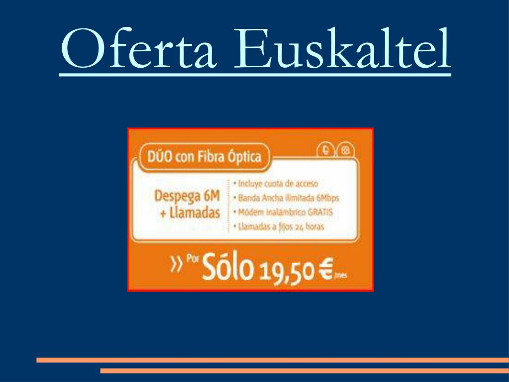 Oferta Euskaltel