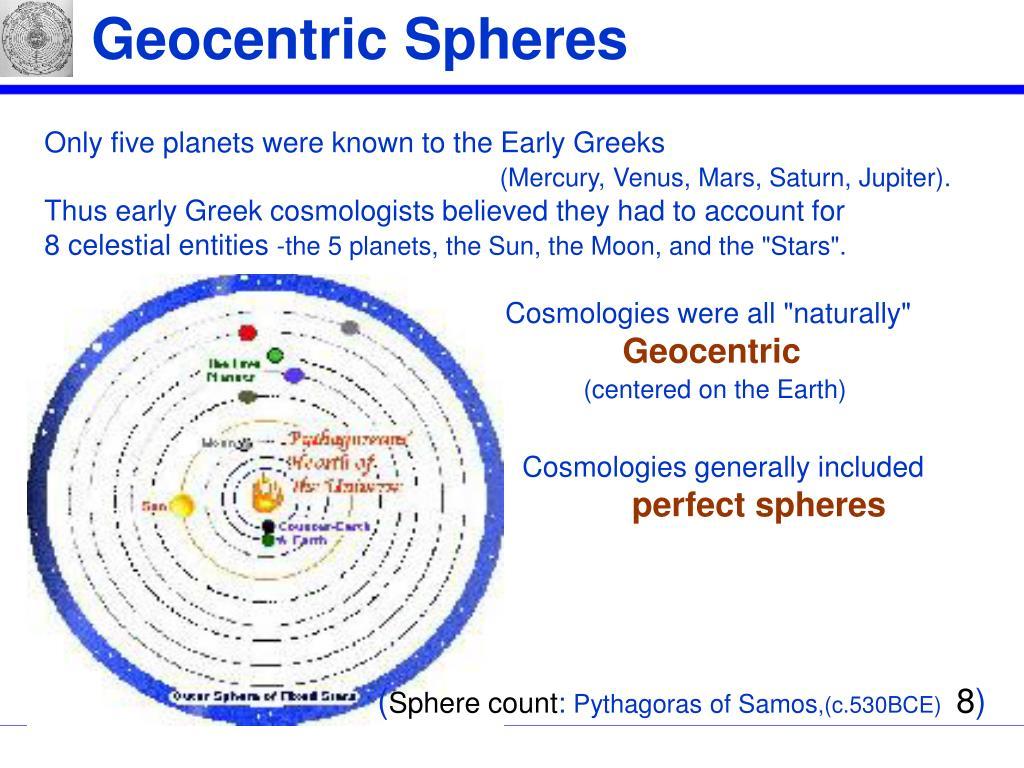 Geocentric Spheres