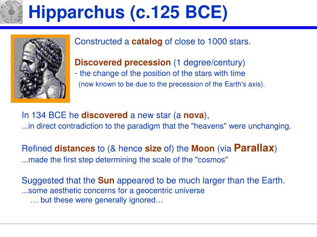 Hipparchus (c.125 BCE)