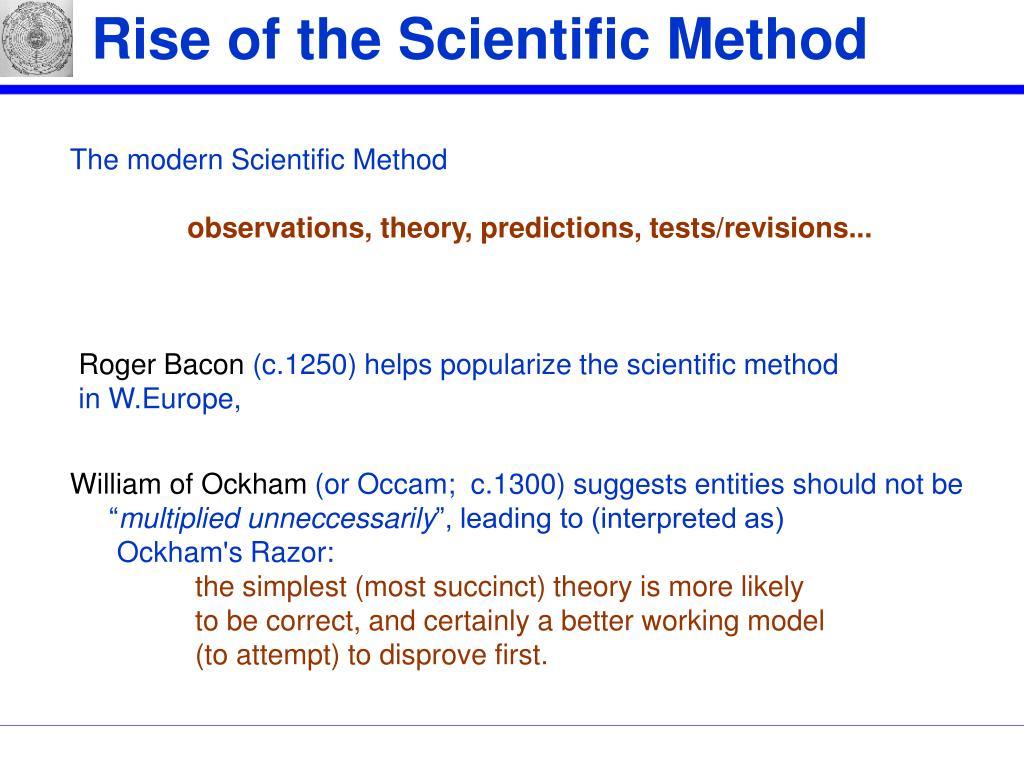 Rise of the Scientific Method