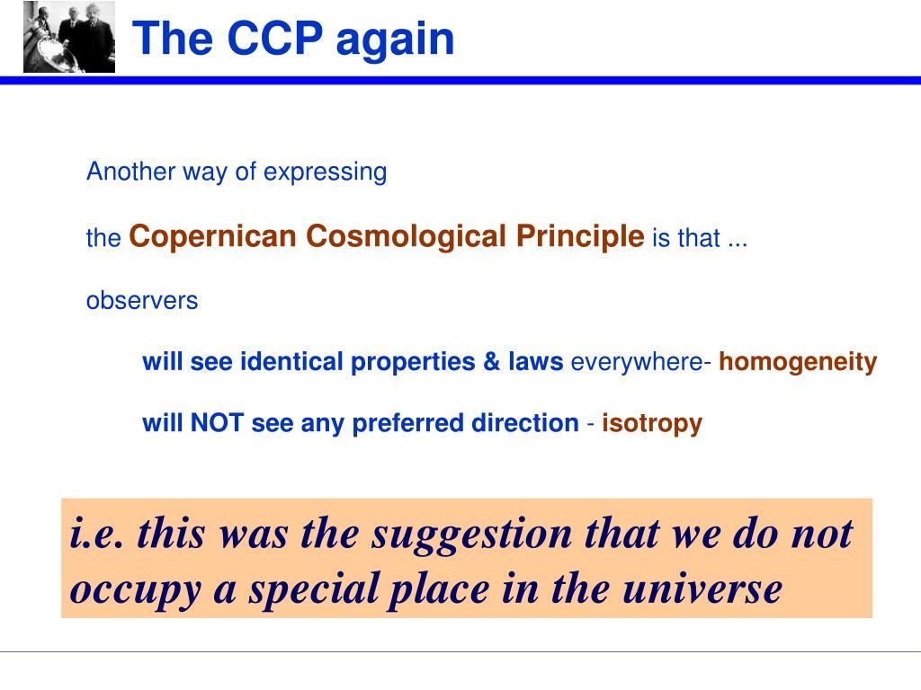 The CCP again