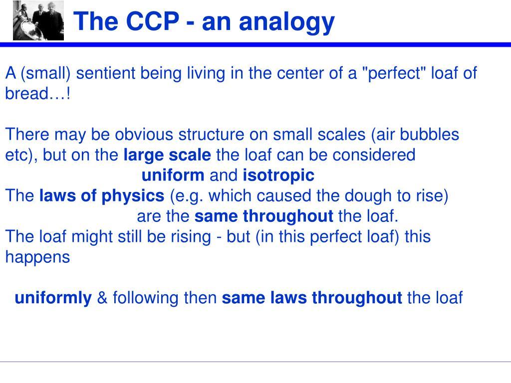 The CCP - an analogy
