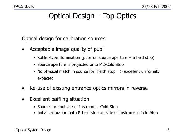 Optical Design – Top Optics