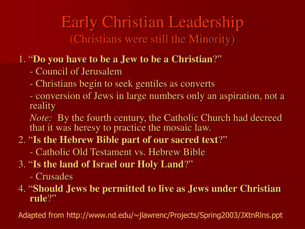 Early Christian Leadership
