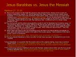 jesus barabbas vs jesus the messiah