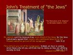 john s treatment of the jews18