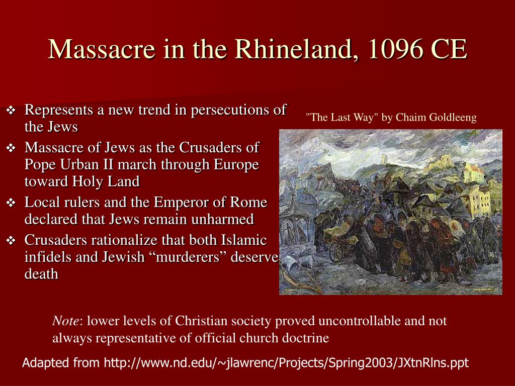 Massacre in the Rhineland, 1096 CE