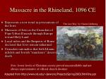 massacre in the rhineland 1096 ce