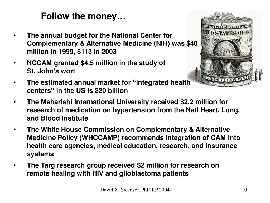 Follow the money…