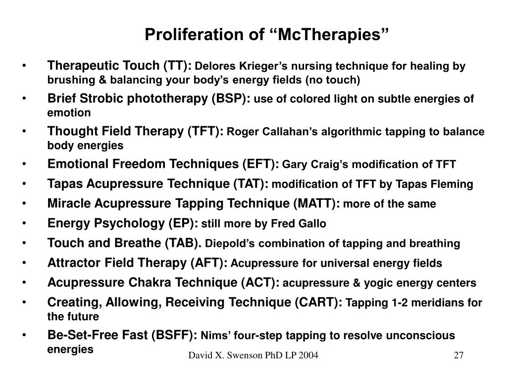 "Proliferation of ""McTherapies"""