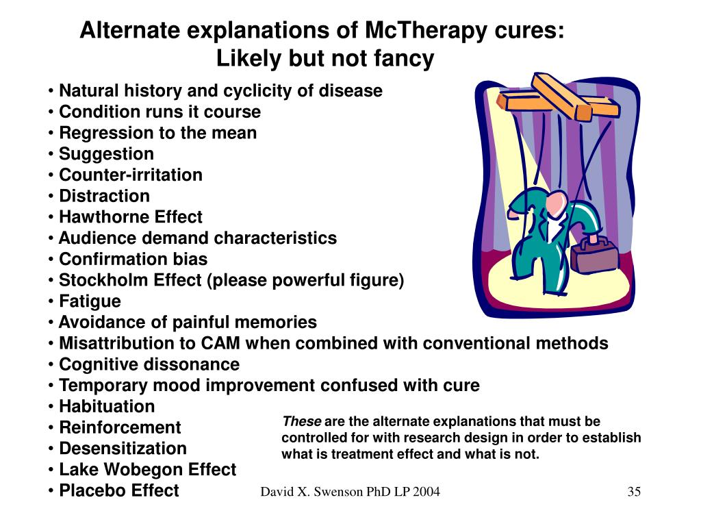 Alternate explanations of McTherapy cures: