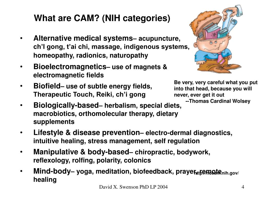 What are CAM? (NIH categories)