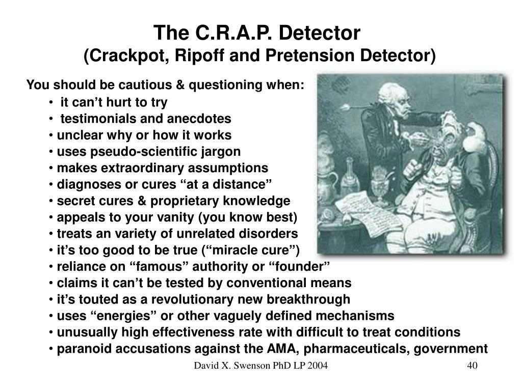The C.R.A.P. Detector