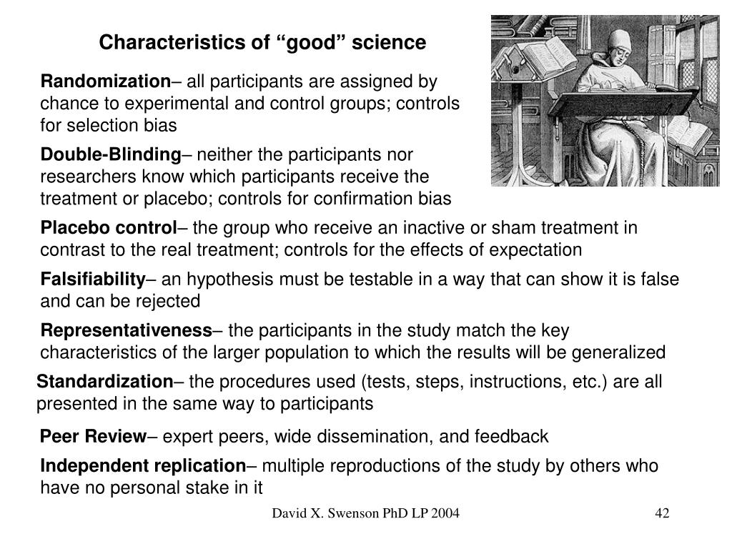 "Characteristics of ""good"" science"