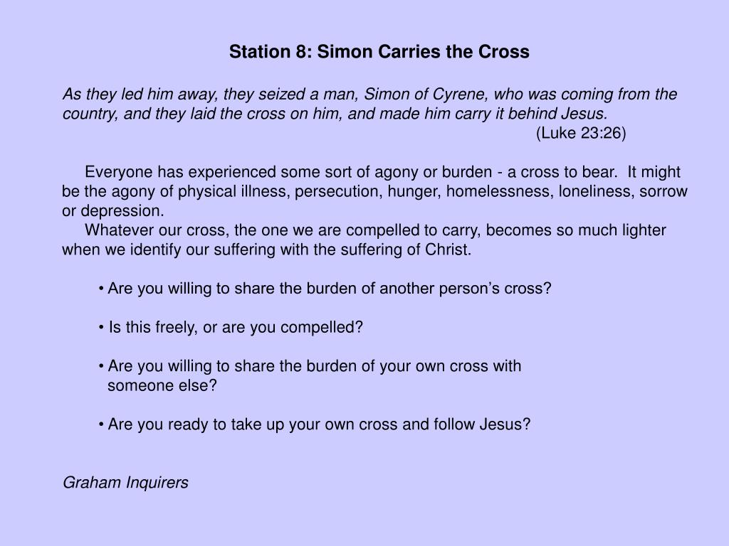 Station 8: Simon Carries the Cross