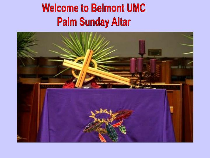 Welcome to Belmont UMC
