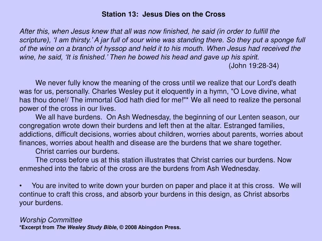 Station 13:  Jesus Dies on the Cross