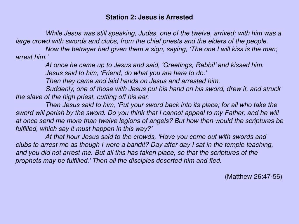 Station 2: Jesus is Arrested
