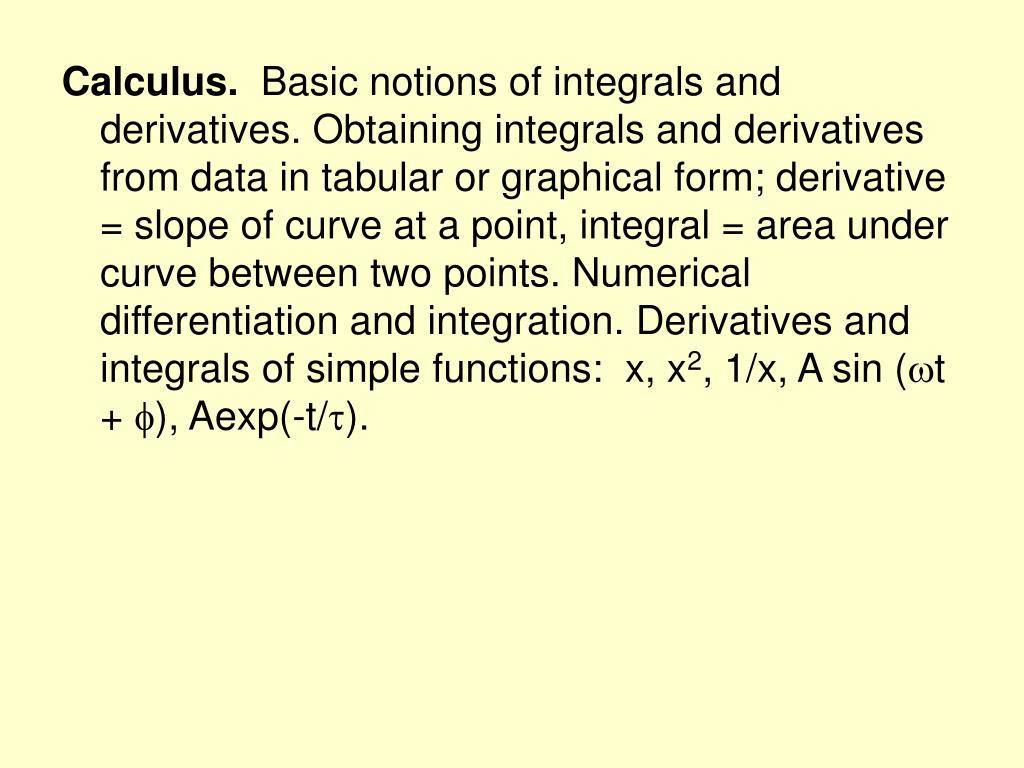 Calculus.