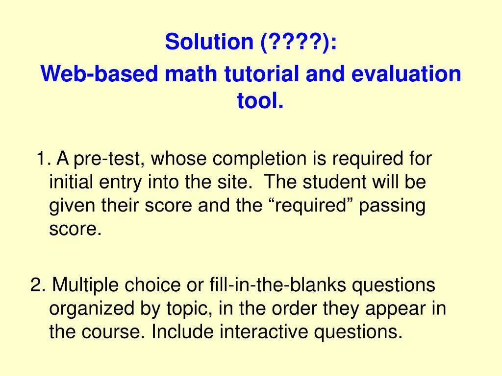 Solution (????):
