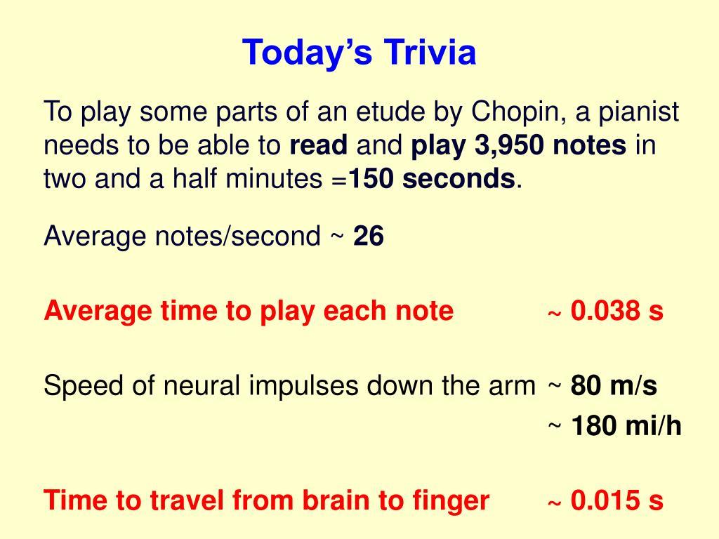 Today's Trivia