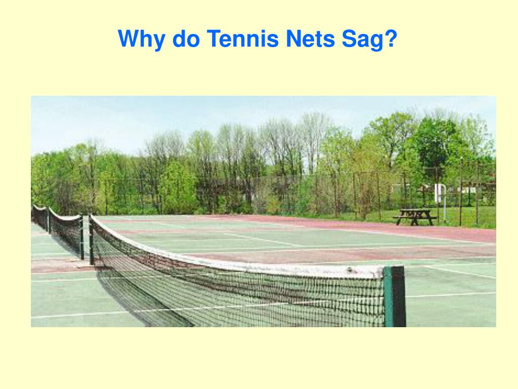 Why do Tennis Nets Sag?