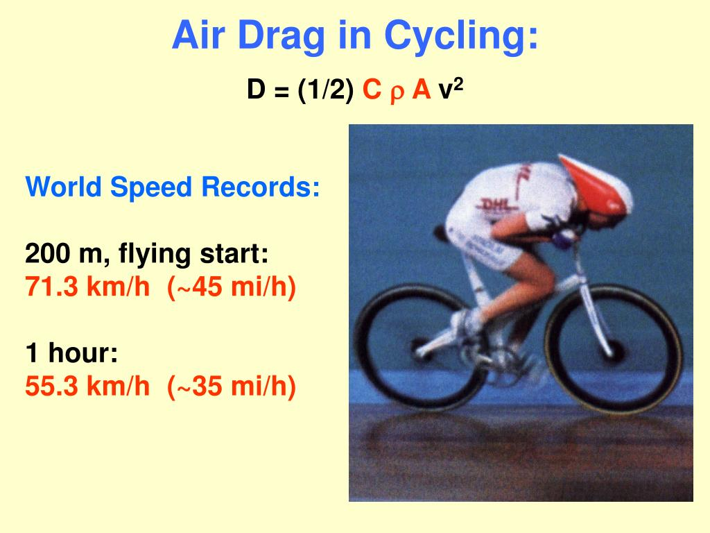 Air Drag in Cycling: