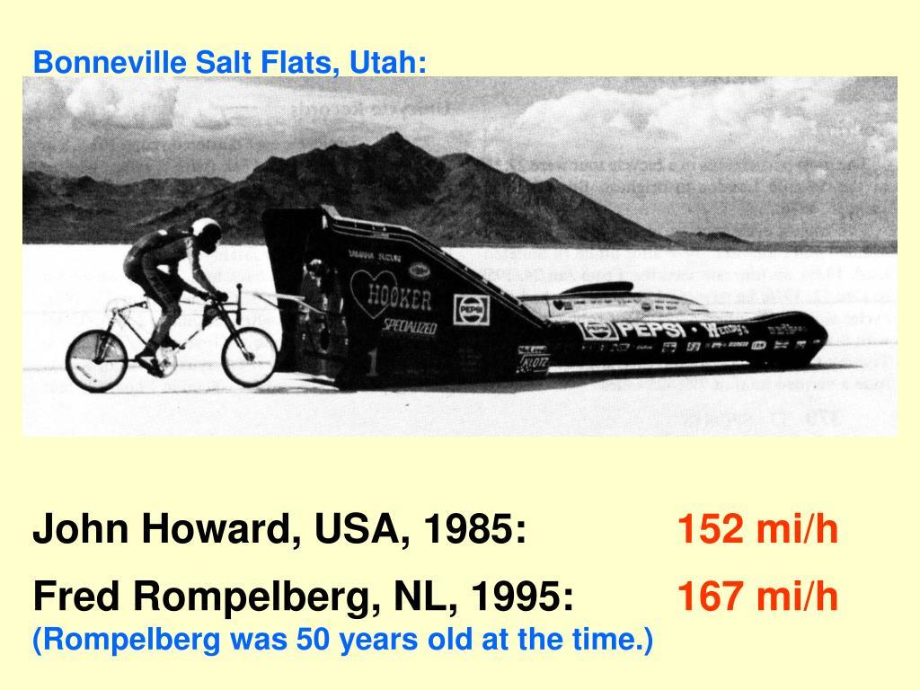 Bonneville Salt Flats, Utah: