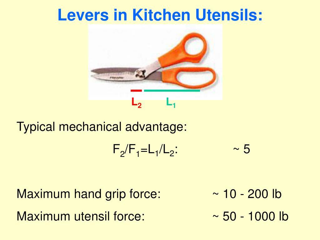 Levers in Kitchen Utensils: